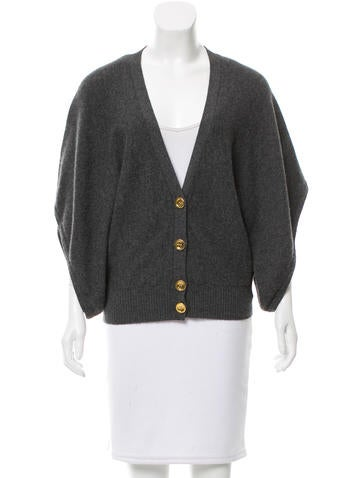 Tory Burch Cashmere V-Neck Cardigan None