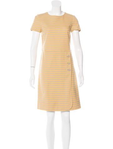 Tory Burch Striped Knee-Length Dress None
