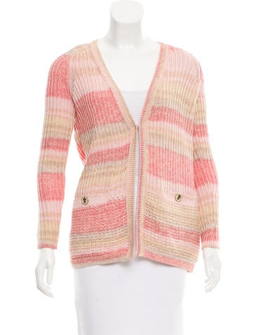 Tory Burch Rib Knit Cardigan None