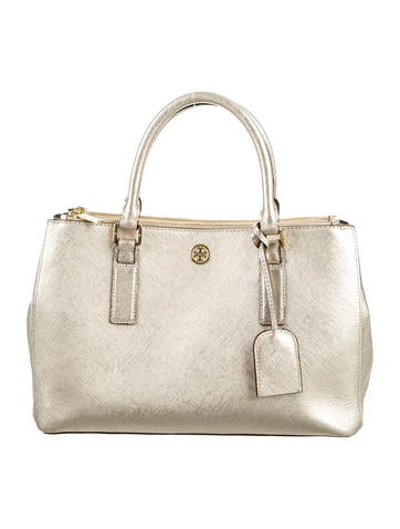 Tory Burch Small Double-Zip Tote None