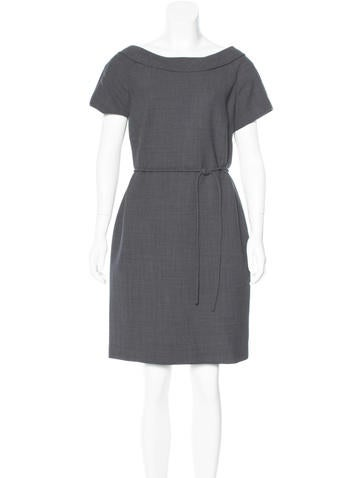 Tory Burch Wool-Blend Belted Dress None