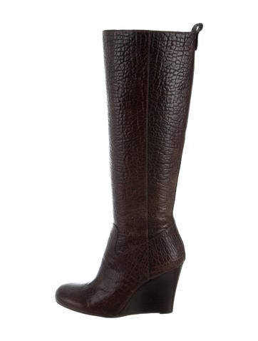 Tory Burch Embossed Knee-High Boots None