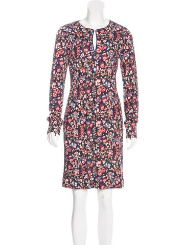 Tory Burch Floral Print Long Sleeve Dress w/ Tags