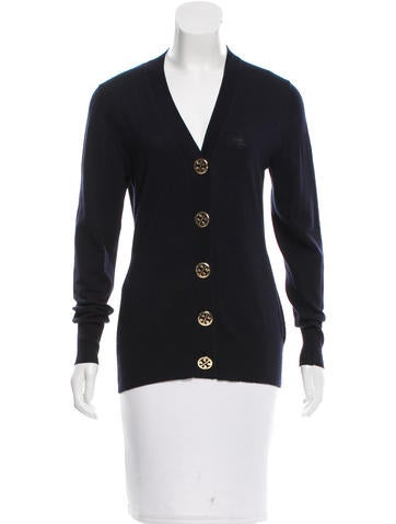 Tory Burch Wool V-Neck Cardigan None