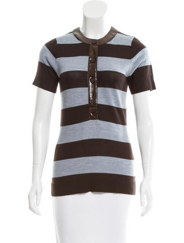 Tory Burch Striped Wool Top None