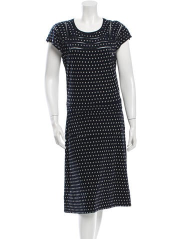 Tory Burch Printed Cap Sleeve Dress