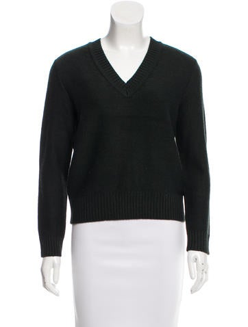 Tory Burch Long Sleeve Rib Knit Sweater None