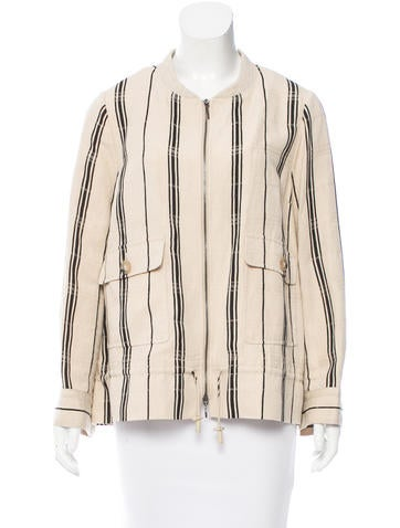 Tory Burch Silk & Linen-Blend Jacket None