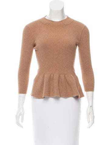 Tory Burch Peplum Wool Sweater None