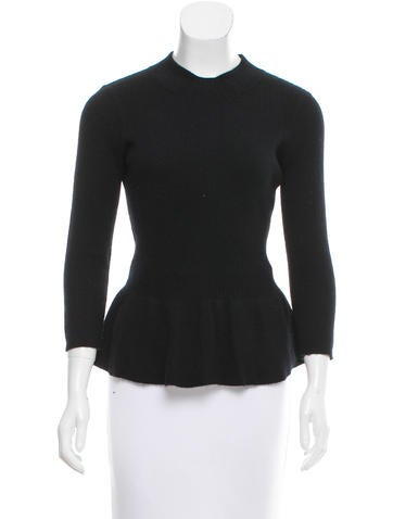 Tory Burch Wool Peplum Top None