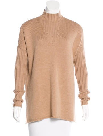 Tory Burch Wool Oversize Turtleneck None