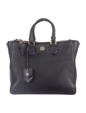 Tory Burch Leather Double Zip Tote None