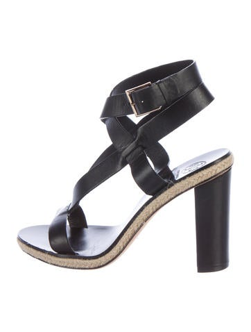 Tory Burch Leather Round-Toe Sandals None