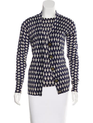 Tory Burch Wool Patterned Cardigan Set None