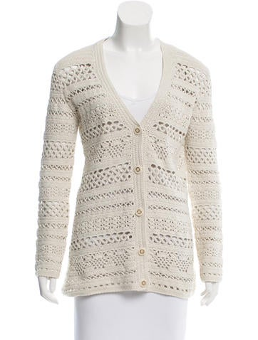 Tory Burch Knit Long Sleeves Cardigan None