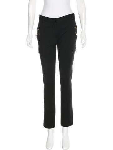 Tory Burch Knit Zip-Accented Pants None