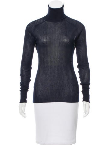 Tory Burch Rib Knit Turtleneck Sweater None
