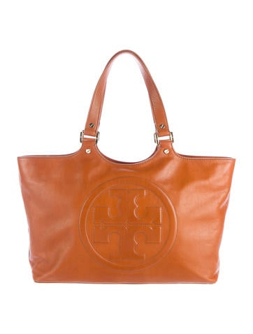Tory Burch Logo Leather Tote None