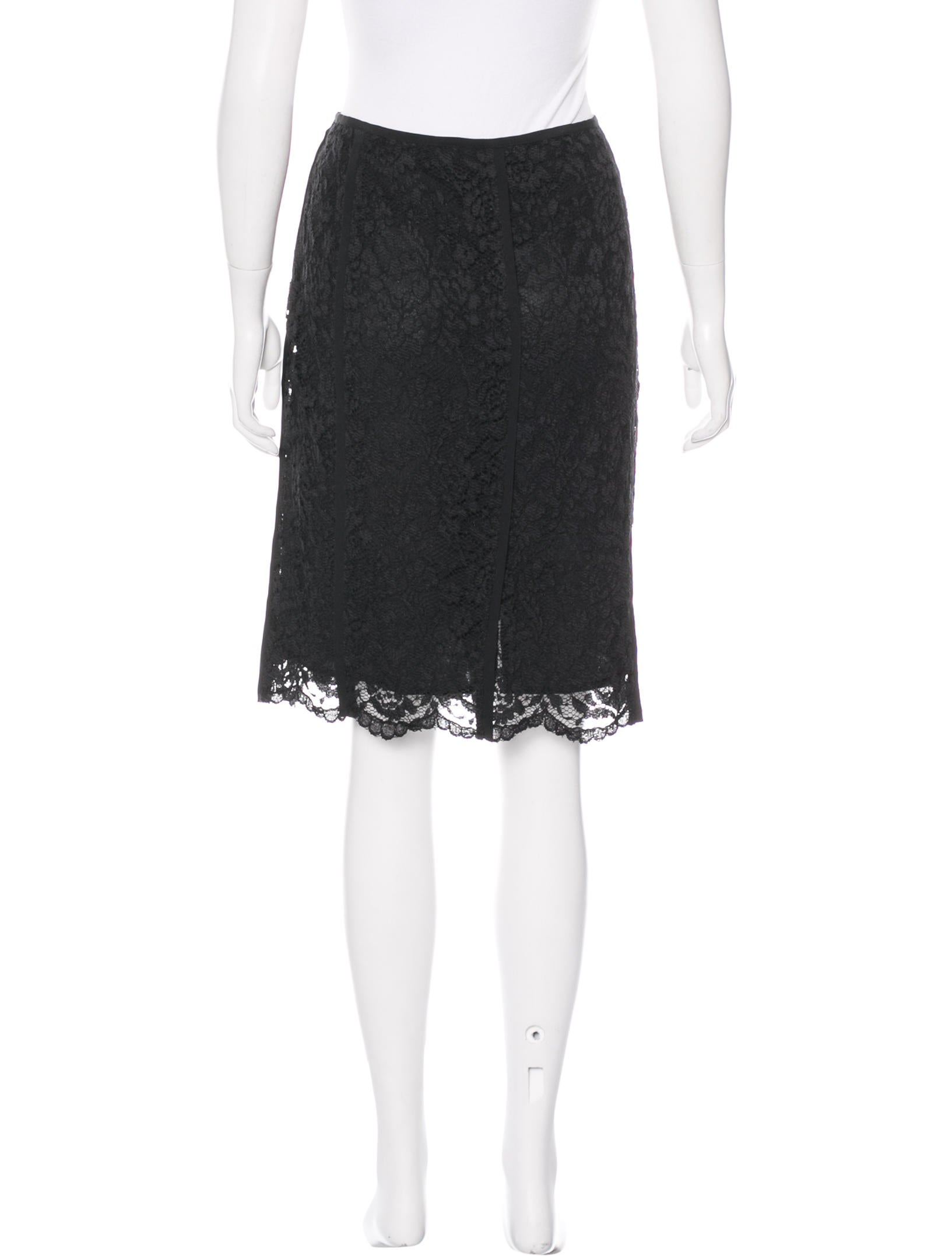 burch lace knee length skirt clothing wto84274