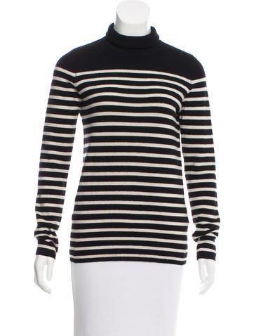 Tory Burch Striped Cashmere Sweater None