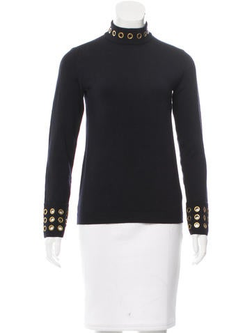 Tory Burch Wool Grommet-Accented Sweater None