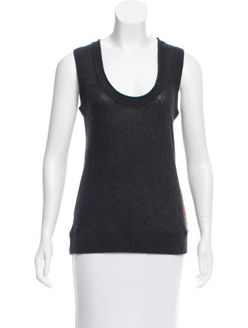 Tory Burch Sleeveless Wool Top None