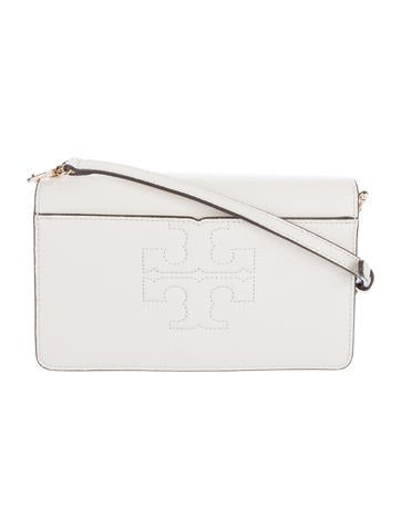 Tory Burch Logo-Accented Leather Crossbody Bag None