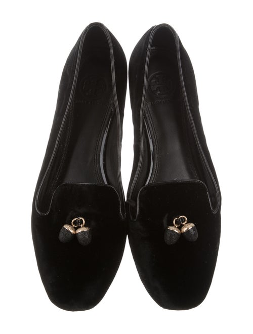 3da1d5eacb80a3 Tory Burch Acorn Velvet Loafers - Shoes - WTO84583