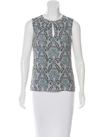 Tory Burch Printed Sleeveless Top None