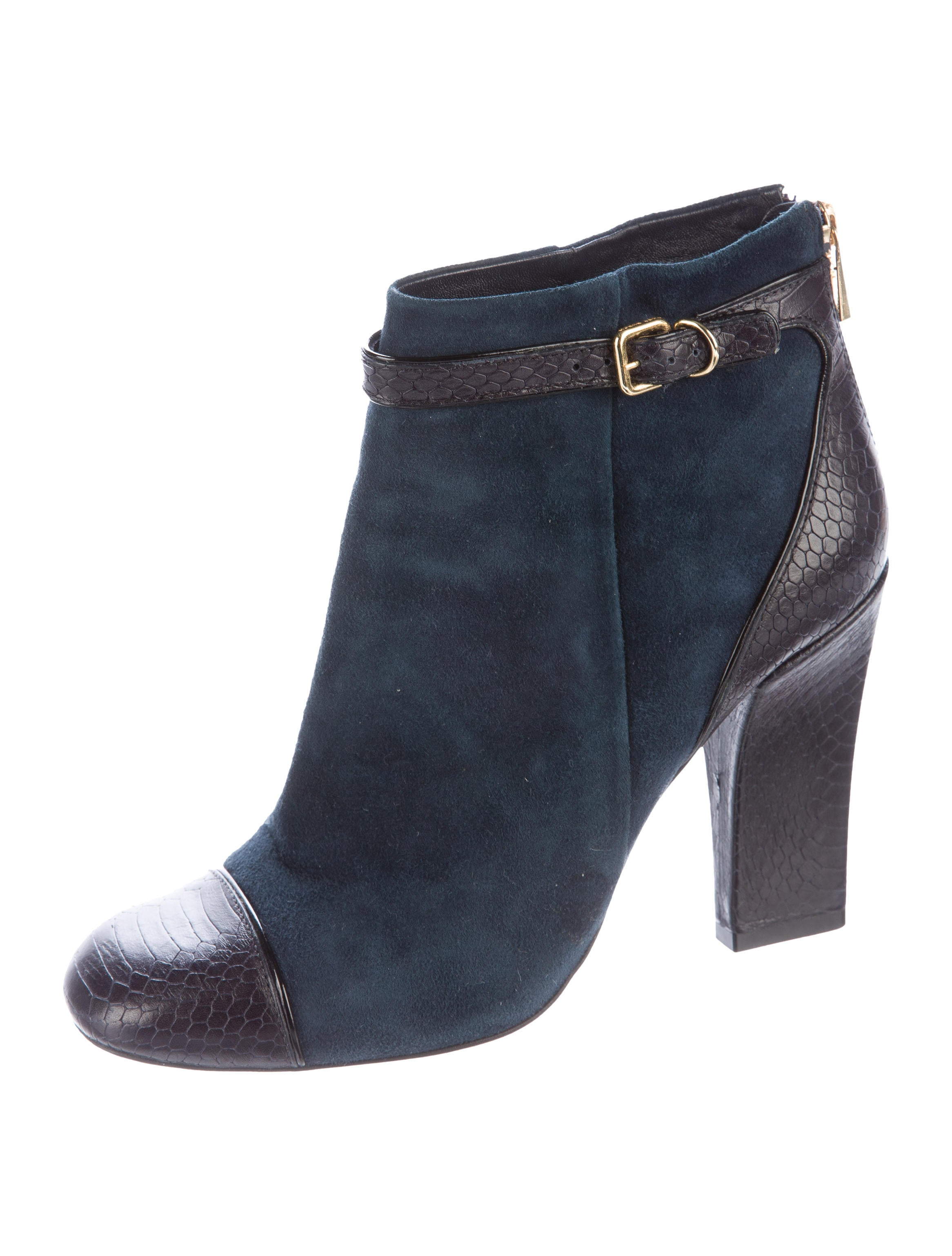 burch suede ankle boots shoes wto84720 the realreal