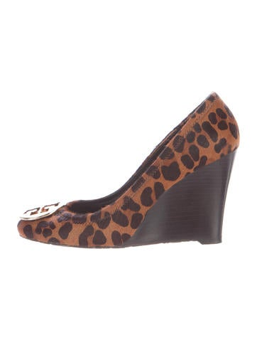Tory Burch Sally Ponyhair Wedges None