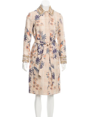 Tory Burch Embellished Printed Jacket