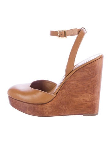 Leather Platform Wedges