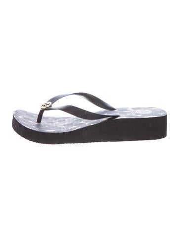 Tory Burch Rubber Wedge Sandals None