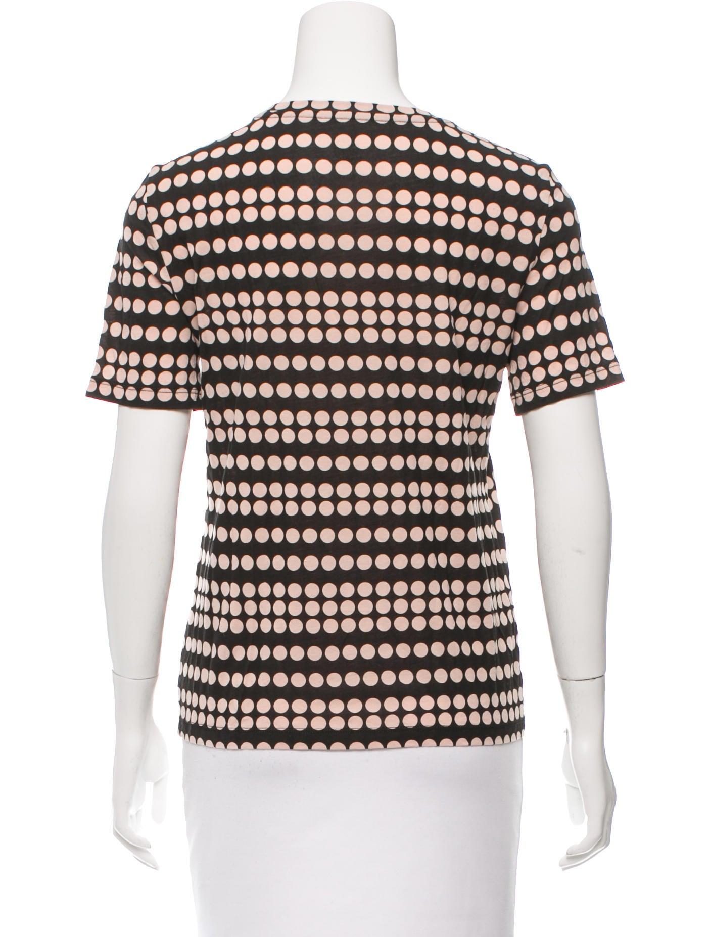 Tory Burch Short Sleeve Polka Dot T Shirt Clothing