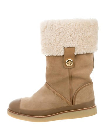 Tory Burch Suede Logo-Embellished Boots