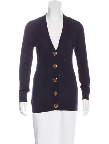 Tory Burch Wool Long Sleeve Cardigan None