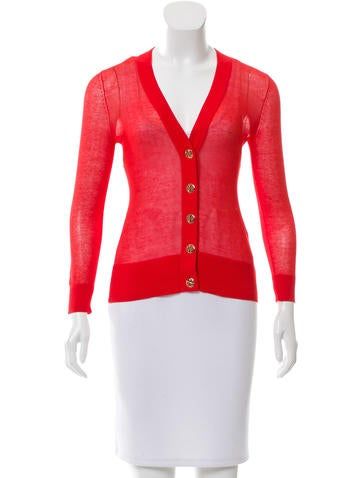 Tory Burch V-Neck Knit Cardigan None