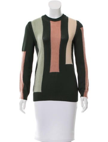 Tory Burch Colorblock Knit Sweater None