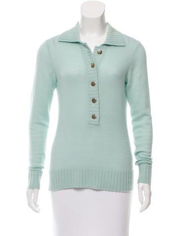 Tory Burch Logo-Button Wool Sweater None