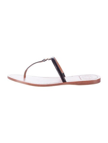 Patent Leather T-Strap Sandals