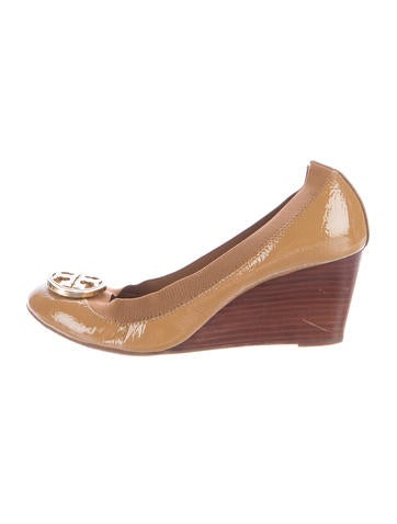 Tory Burch Caroline Logo Wedges None