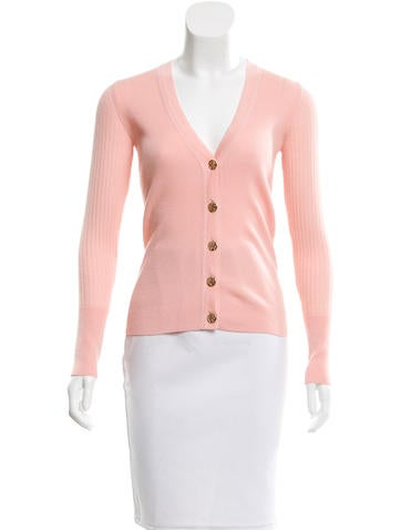 Tory Burch Logo Wool Cardigan None