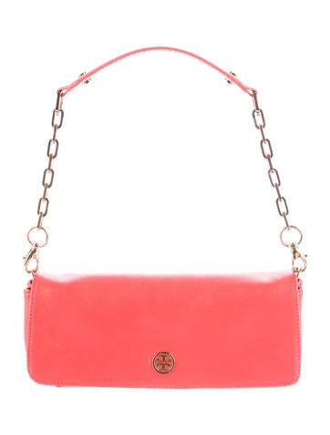 Tory Burch Saffiano Flap Bag None