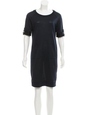 Tory Burch Knee-Length Rib Knit Dress None