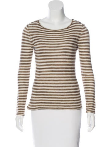 Tory Burch Striped Long Sleeve Sweater None