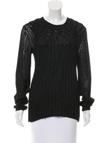 Tory Burch Metallic Crew Neck Sweater None