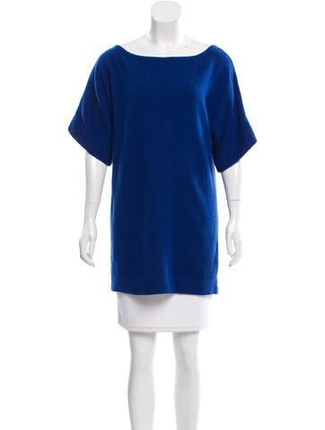 Tory Burch Short Sleeve Cashmere Sweater None