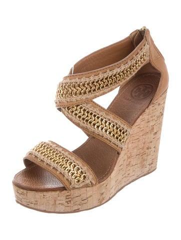 f69380cffcbde Tory Burch Chain-Link Platform Sandals - Shoes - WTO87340