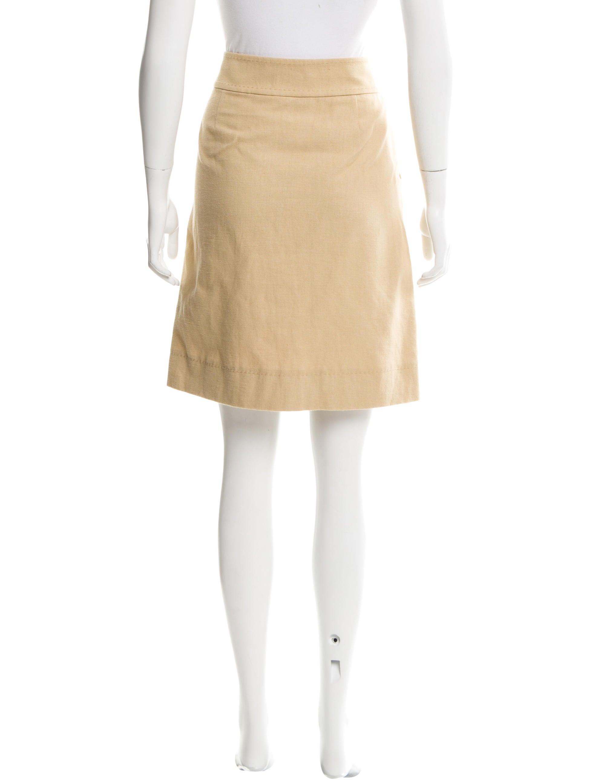 burch knee length linen blend skirt clothing